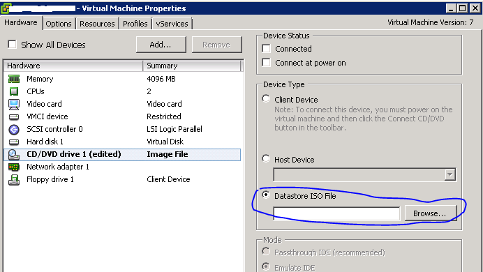 what is iso image in vmware