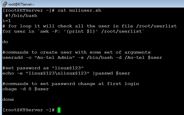 Create users in Multiple Server | Au-Tel Linux Admin